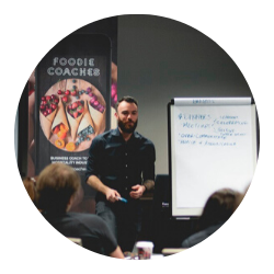 Brad from Foodie Coaches speaking