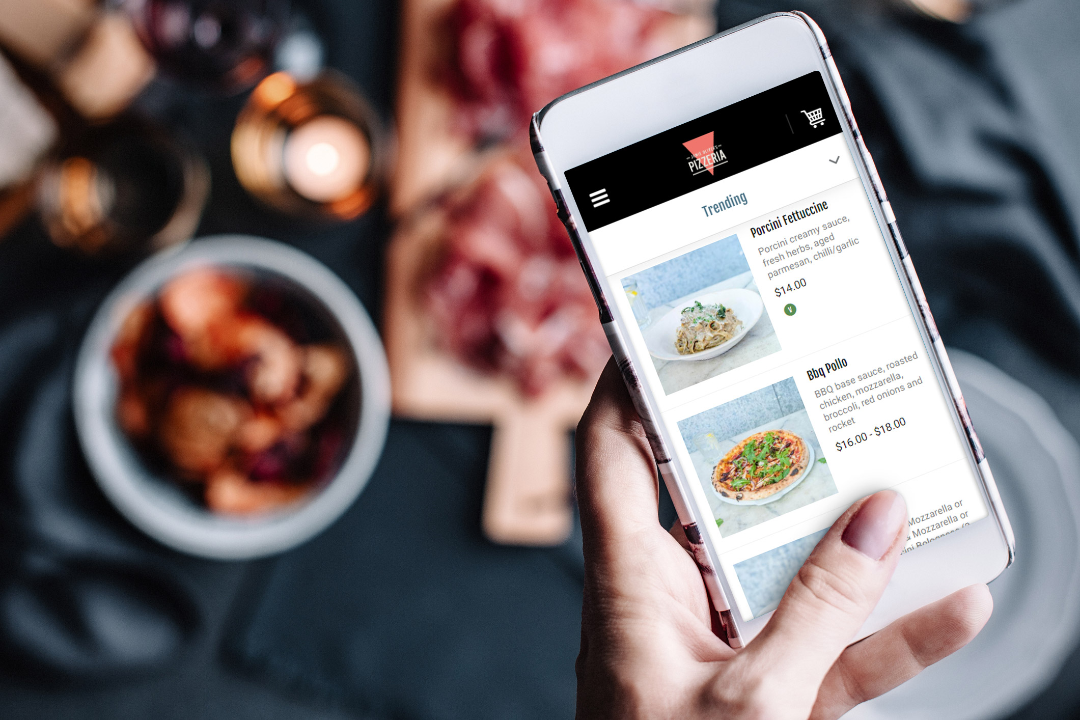 engage with on-demand diners