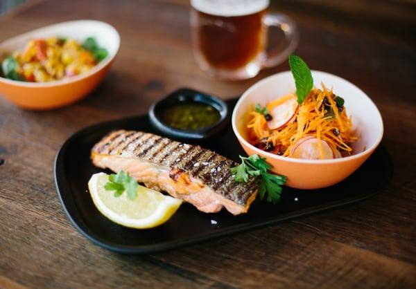 Salmon dish from Salmon and Bear in Zetland NSW