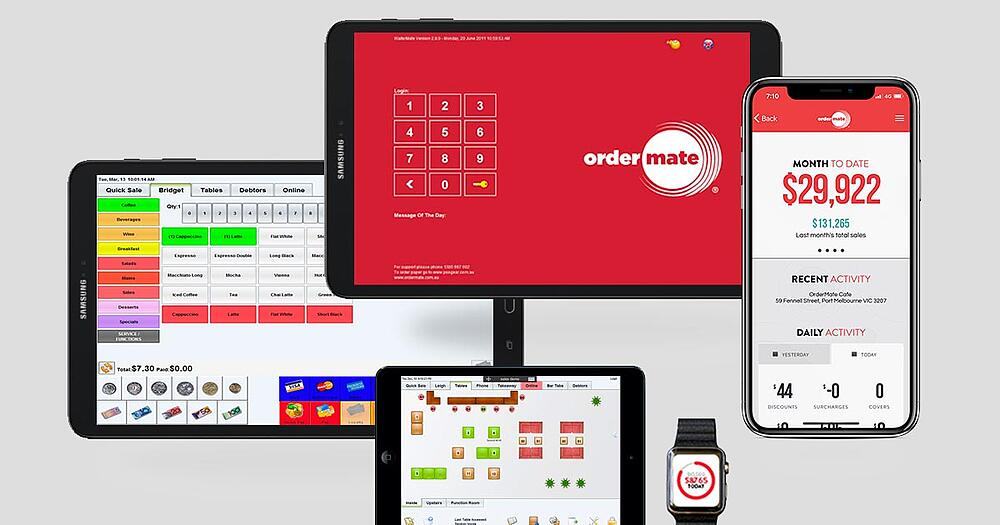 OrderMate POS on multiple devices