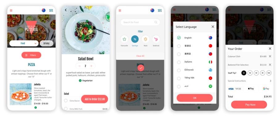 HungryHungry web app screens