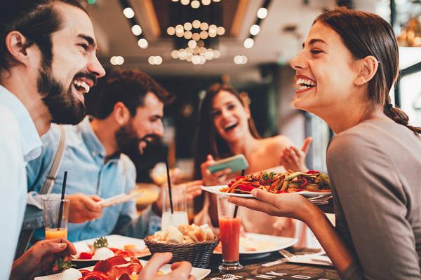 Diners enjoying food at one of Australia's top restaurants