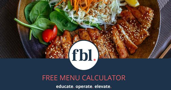 food beverage logic menu calculator