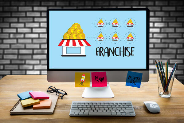 Franchise planning on an computer