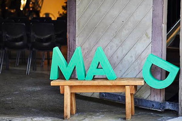 mad fest letters on a seat