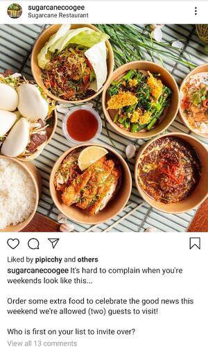 sugarcane coogee instagram post
