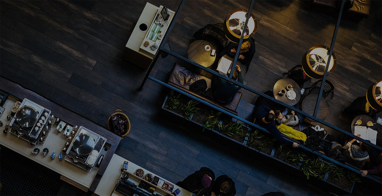 restaurant birdseye view background